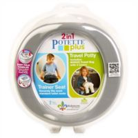 Potette Plus 2-in-1 Travel Potty and Trainer Seat in Grey