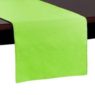 Basic Polyester 54 Inch Table Runner In Neon Green