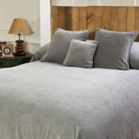 Mélange Chenille Full/Queen Coverlet in Silver