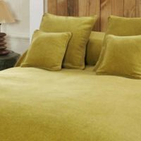 Mélange Chenille King Coverlet in Yellow