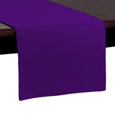 Basic Polyester 72 Inch Table Runner In Plum