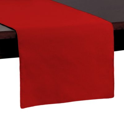 buy cherry red table runner from bed bath beyond. Black Bedroom Furniture Sets. Home Design Ideas