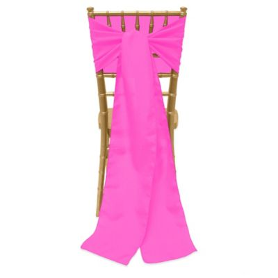 Basic Polyester Chair Ties In Neon Pink
