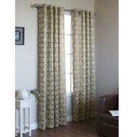 Commonwealth Home Fashions Mayan 63-Inch Grommet Window Curtain Panel in Gold