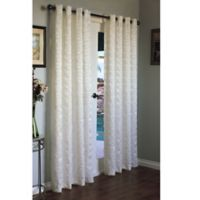 Commonwealth Home Fashions Mayan 95-Inch Grommet Window Curtain Panel in White