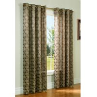 Commonwealth Home Fashions Mayan 95-Inch Grommet Window Curtain Panel in Chocolate