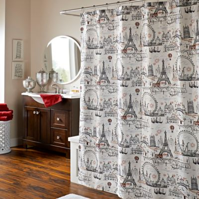 Delightful Oh La La La Lipstick Shower Curtain
