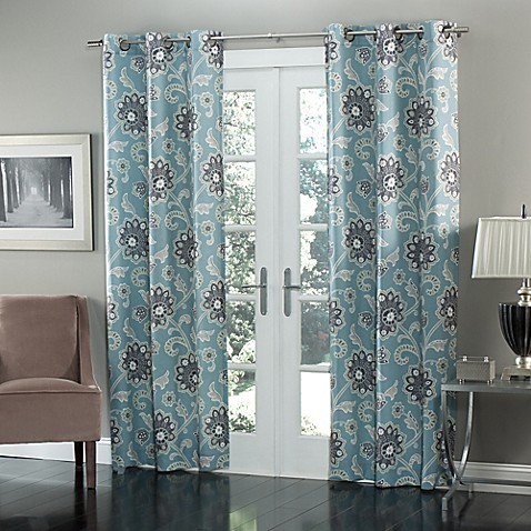 M Style Ankara 84 Inch Grommet Top Window Curtain Panel