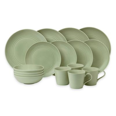 gordon ramsay by royal doulton maze 16piece dinnerware set in sage