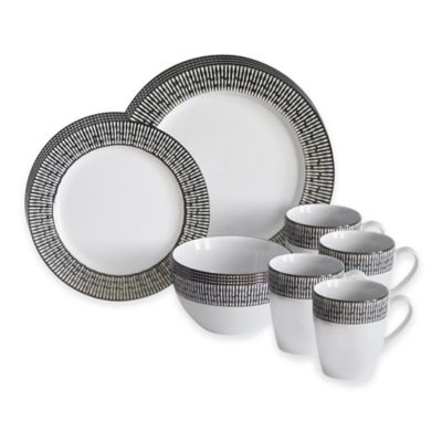 Baum Patina16-Piece Dinnerware Set in Blue/Ivory  sc 1 st  Bed Bath u0026 Beyond & Buy Dinnerware 16 Piece Set from Bed Bath u0026 Beyond