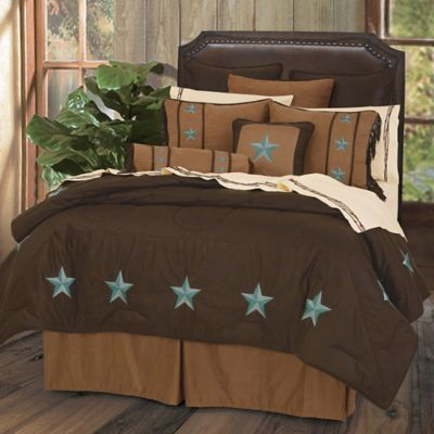 hiend accents laredo queen comforter set with bed skirt