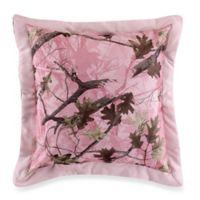 HiEnd Accents Oak Camo Euro Sham in Pink