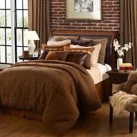 HiEnd Accents Crestwood 5-Piece Queen Comforter Set in Brown