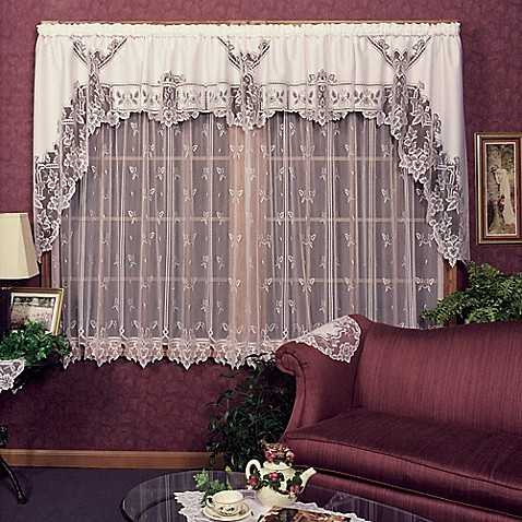 Heritage Lace Heirloom Window Curtain Panel And Valance