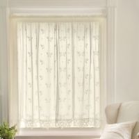 Heritage Lace® Heirloom 84-Inch Rod Pocket Sheer Window Curtain Panel in Ecru