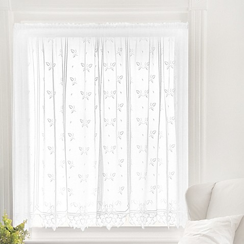 Buy Heritage Lace Heirloom 45 Inch Sheer Window Curtain Tier In White From Bed Bath Beyond