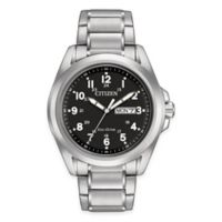 Citizen Eco-Drive Men's 43mm Sport Watch in Stainless Steel with Black Dial