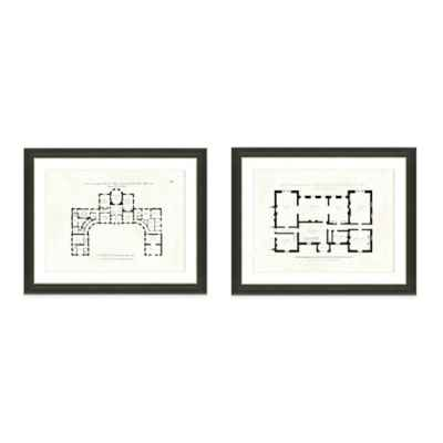 Interior Floor Plan Framed Art Print