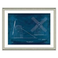 Framed Giclée Windmill Patent Print I Wall Art