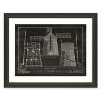 Framed Giclée Windmill Patent I Art Print