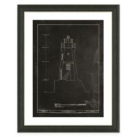 Framed Giclée Lighthouse Patent I Art Print