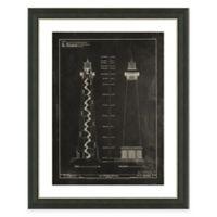 Framed Giclée Lighthouse Patent III Art Print