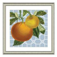 Framed Giclée Geometric Orange I Print Wall Art