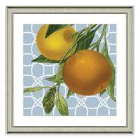 Framed Giclée Geometric Orange II Print Wall Art