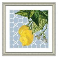 Framed Giclée Geometric Lemon I Print Wall Art
