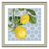 Framed Giclée Geometric Lemon II Print Wall Art