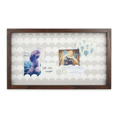 umbra scalloped 22 inch x 107 inch wood shadow box frame in walnut