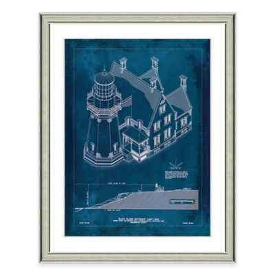 Framed Giclée Block Island Lighthouse Patent Print Wall Art