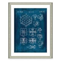 Framed Giclée Rubik's Cube Patent Print Wall Art