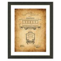 Framed Giclée Street Car Heritage Patent Print Wall Art