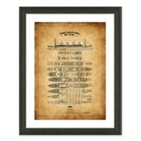 Framed Giclée Titanic Heritage Patent Print Wall Art