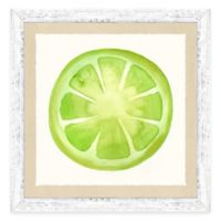 Framed Giclée Water Color Lime Print Wall Art