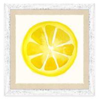Framed Giclée Water Color Lemon Print Wall Art