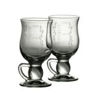 Belleek Galway Crystal Irish Coffee Glasses (Set of 2)