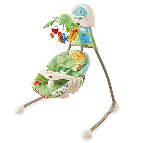 Fisher Price 174 Rain Forest Open Top Cradle Swing Buybuy Baby