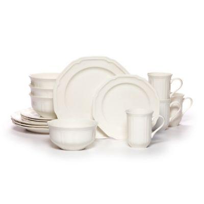Mikasa® Antique White 16-Piece Dinnerware Set  sc 1 st  Bed Bath \u0026 Beyond & Buy White Casual Dinnerware from Bed Bath \u0026 Beyond