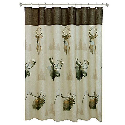 Bacova Majestic Portraits Shower Curtain In Beige Brown