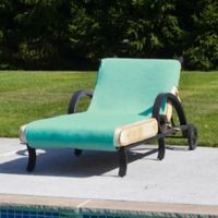 Linum Home Textiles Chaise Lounge Cover in Aqua