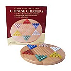 Wood Chinese Checkers Set with Marbles