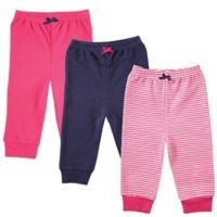 BabyVison® Size 18-24M 3-Pack Luvable Friends Tapered Ankle Pants in Pink