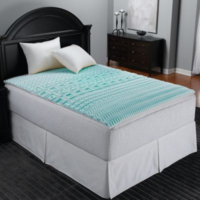 Sleep Zone 5 Foam Twin Xl Mattress Topper In Blue