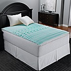 Sleep Zone 5-Zone Foam Queen Egg Crate Mattress Topper in Blue