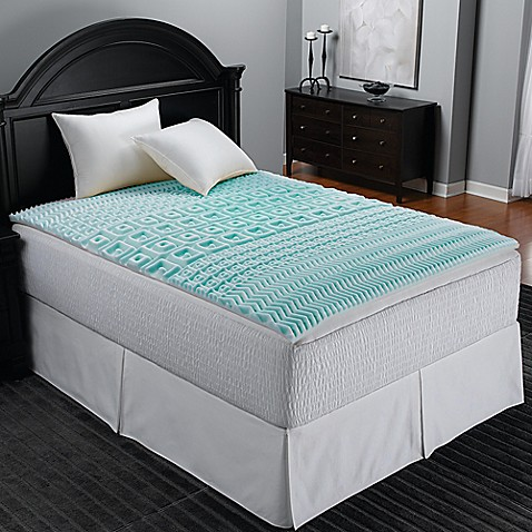 sleep zone 5 zone foam egg crate mattress topper in blue bed bath beyond. Black Bedroom Furniture Sets. Home Design Ideas