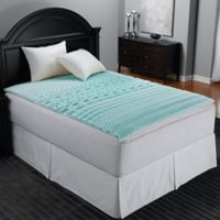 Sleep Zone 5-Zone Foam Full Mattress Topper in Blue