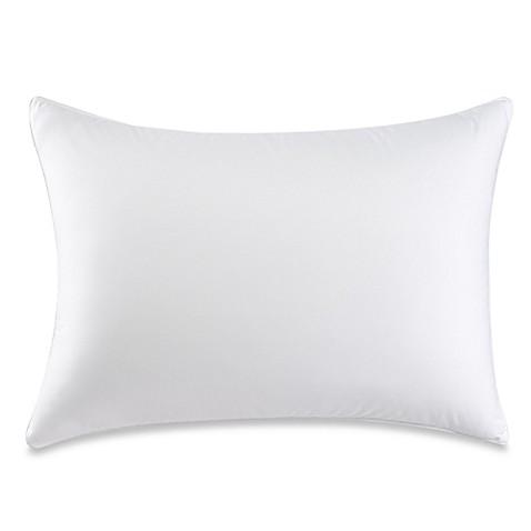 therapedic dacron memorelle fiber back stomach sleeper pillow in white bed bath beyond. Black Bedroom Furniture Sets. Home Design Ideas