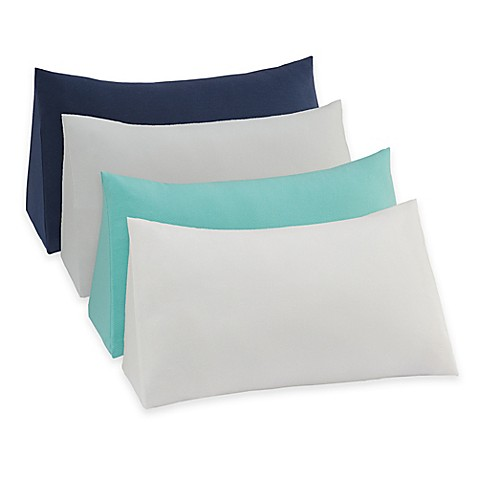 Therapedic 174 Reading Wedge Pillow Knit Cover Bed Bath